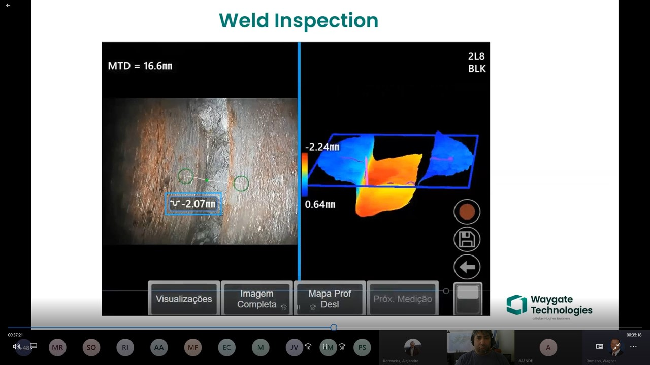Webinar Inspección Visual Remota – Medición utilizando 3D y nubes de puntos